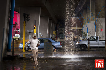 AUGUST RAIN, NEWTOWN, JOHANNESBURG, SOUTH AFRICA
